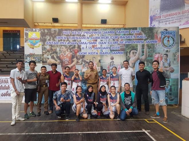Tim Basket Putri Batanghari  Saat Juara Gubernur Cup 2018