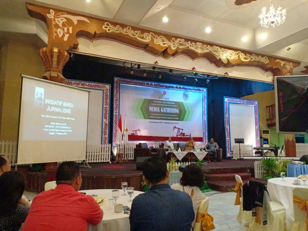 Media Gathering SKK Migas dan KKKS Sumbangsel bersama Forum Jurnalis Migas (FJM)  Sumsel dan Jambi di Tanjung Pesona Hotel,  Bangka.