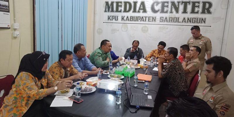 Diskusi anggota DPRD Kota Bengkulu dengan komisioner KPU Sarolangun pada Kamis 25 Oktober 2018