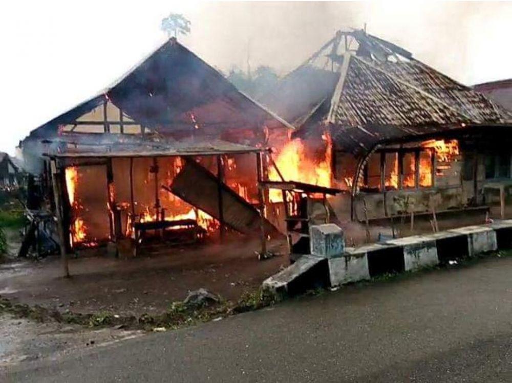 Kondisi Rumah yang Terbakar