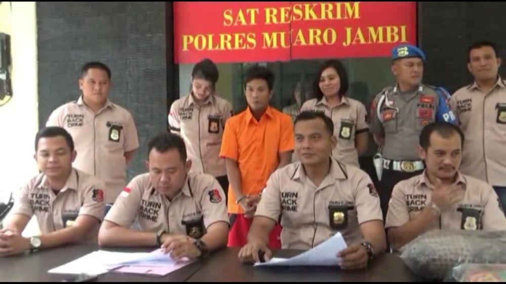 Kapolres Muaro Jambi Memberikan Keterangan Pers Kemarin