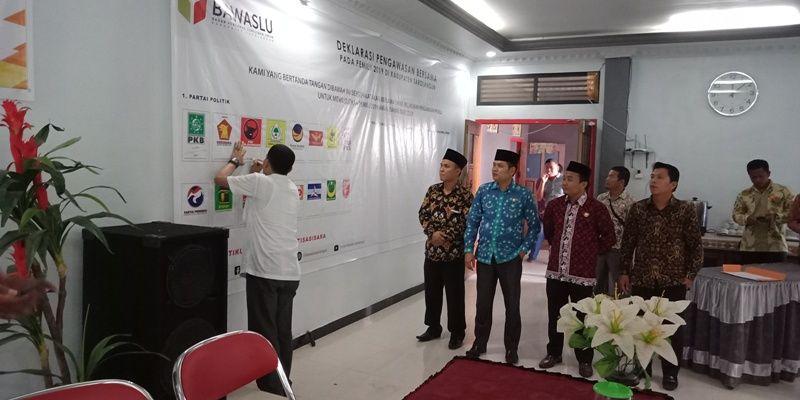 Deklarasi Pengawasan Bersama yang Dilaksanakan Pada Pemilu 2019 yang Dilaksanakan Bawaslu Sarolangun
