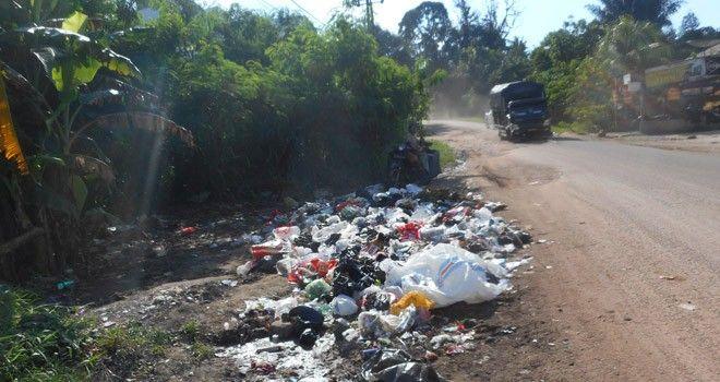 Salah satu pembuangan sampah di Kota Jambi