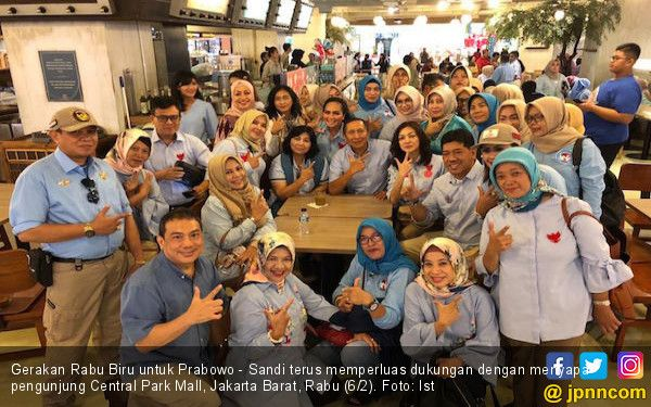 Gerakan Rabu Biru untuk Prabowo Sandi