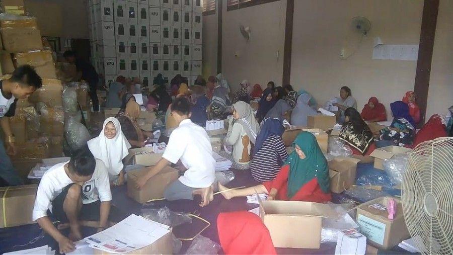 Pelipatan surat surat suara di kabupaten Sarolangun