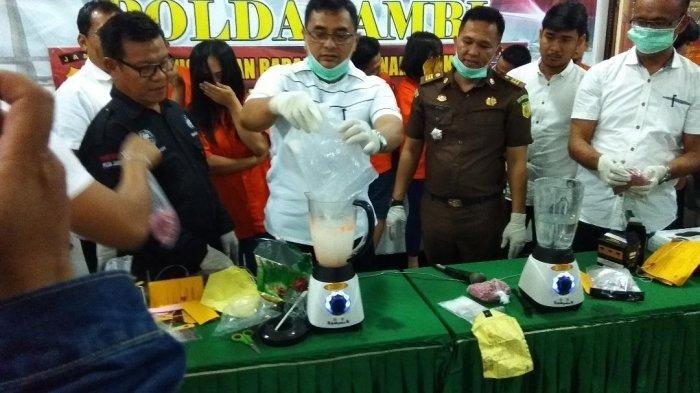Narkoba Hasil dari Operasi Antik yang digelar Polda Jambi dimusnahkan