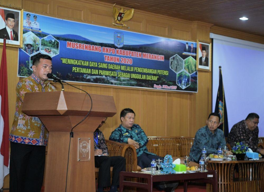 Bupati Merangin H Al Haris Membuka Musrenbang RKPD Kabupaten Merangin 2020