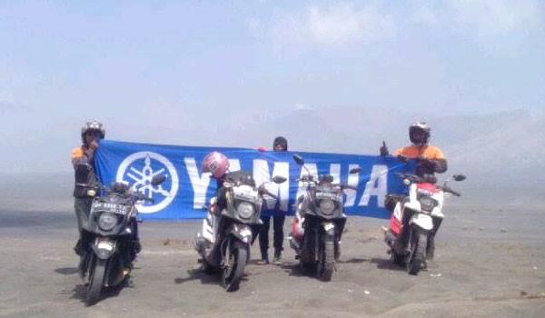 GUNUNG TENGGER: Team  Yamaha X-ride saat berada di Gunung Tengger, Bali