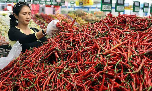 Cabai merah besar dan keriting di sejumlah pasar tradisional di Kota Jambi