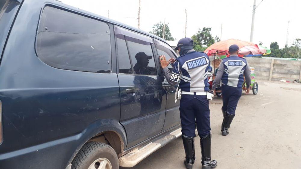 Dishub Kota Jambi Melakukan Razia Kendaraan yang digunakan Untuk Berjualan