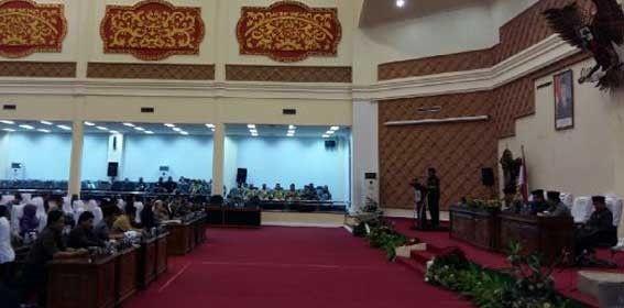 Suasana Rapat Paripurna di DPRD Kota Jambi Belum Lama Ini