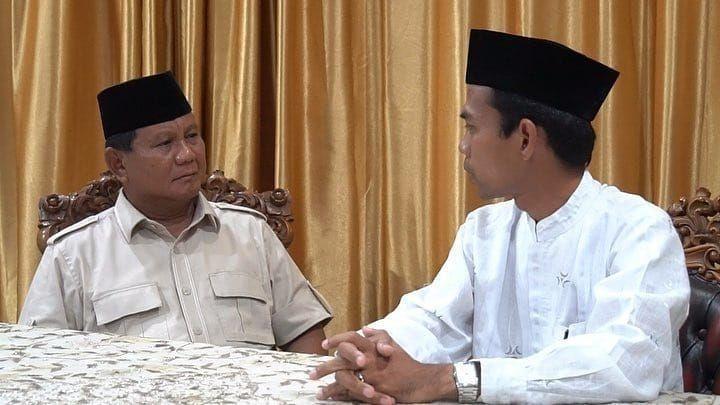 Prabowo Bersama Ustadz Abdul Somad