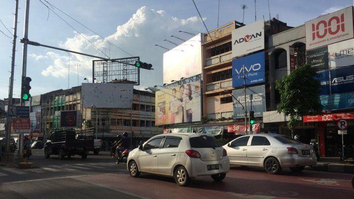 Salah satu simpang di Kota Jambi yang terpasang sistem ATCS