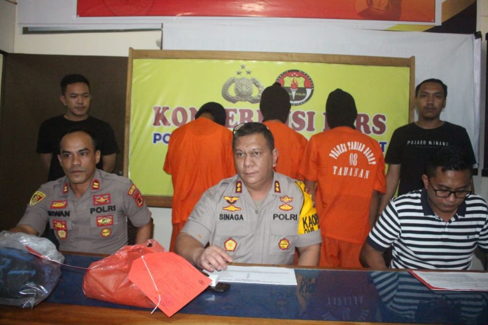Kapolres Tanjabbarat memberikan keterangan pers, Pelaku pencabulan yang ditangkap polisi