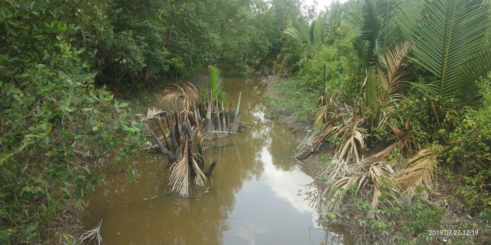 Salah satu proyek pemeliharaan jaringan irigasi yang diklaim selesai 100 persen.