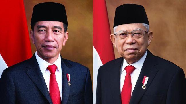 Joko Widodo dan Ma'ruf Amin resmi dilantik sebagai presiden-wakil presiden periode 2019-2024.