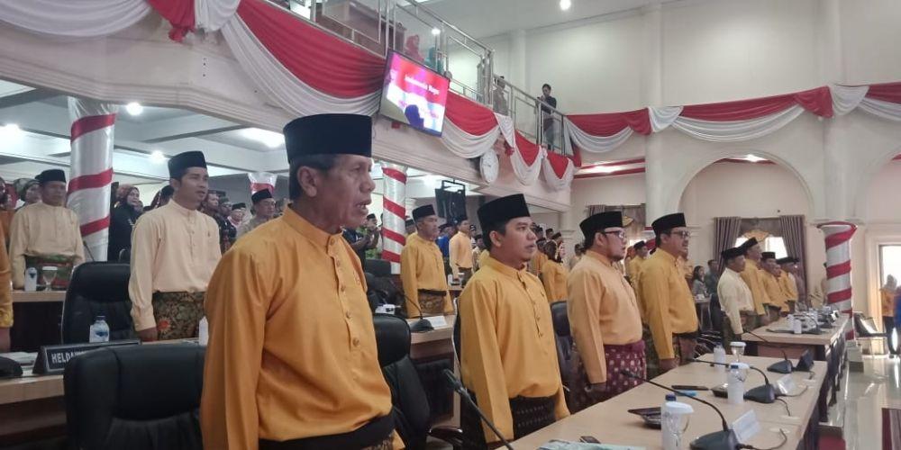 Paripurna HUT Kabupaten Sarolangun, lalu.