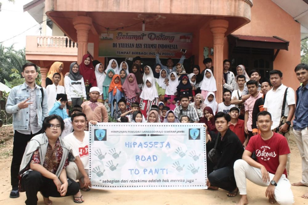Kunjungan Himpunan Pemuda Sanggodirajo Semerap Jambi ke Yayasan Asy Syamsi