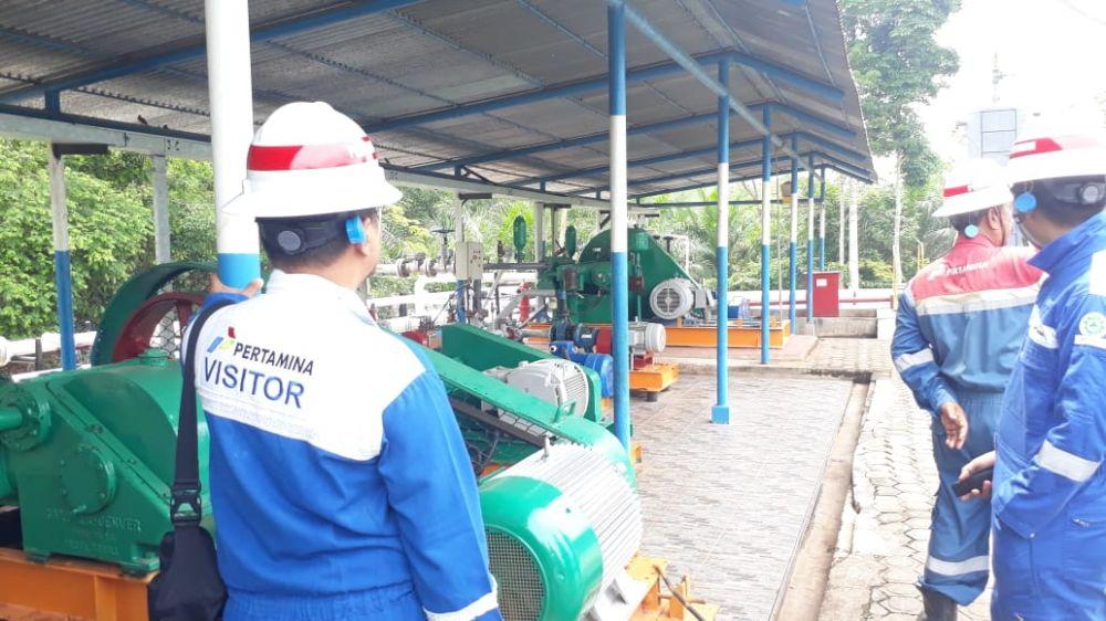 Field Trip Media ke Stasiun Pengumpul Pertamina EP Sungai Gelam.