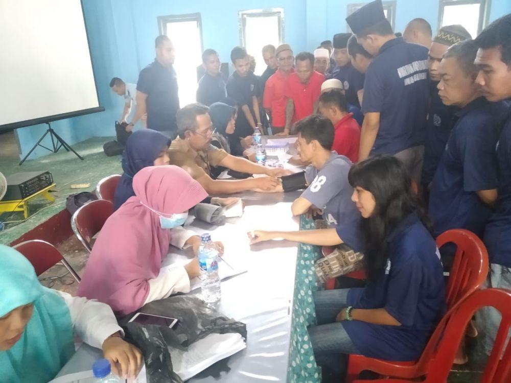 Pemeriksaan kesehatan pada warga binaan Laps Kualatungkal