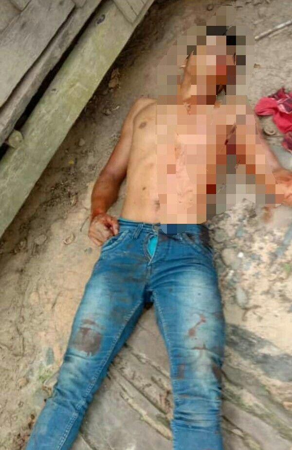 Mayat pria yang ditemukan di kebun Warga