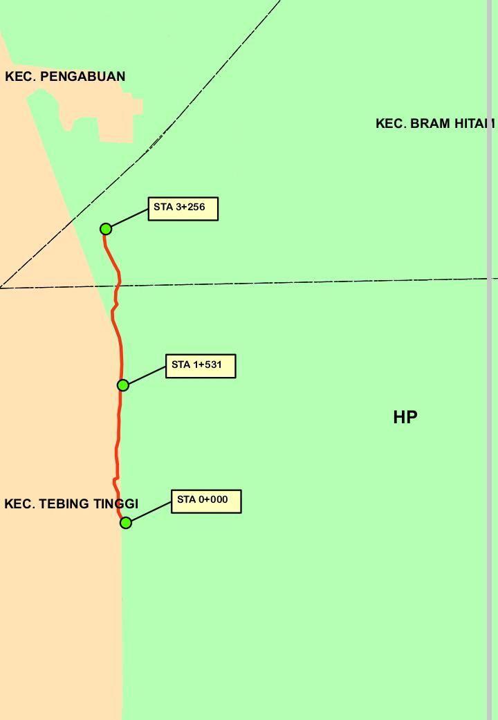 Peta Pembangunan jalan yang masuk kawasan HP.