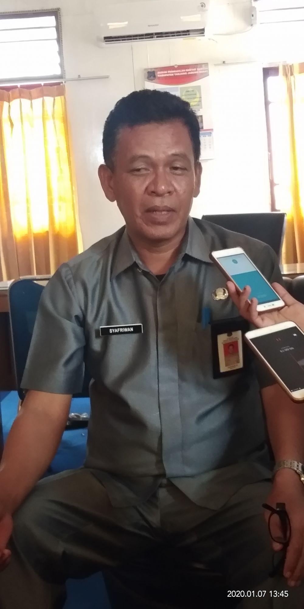 Kepala Diskoperindag Tanjab Barat Syafriwan.