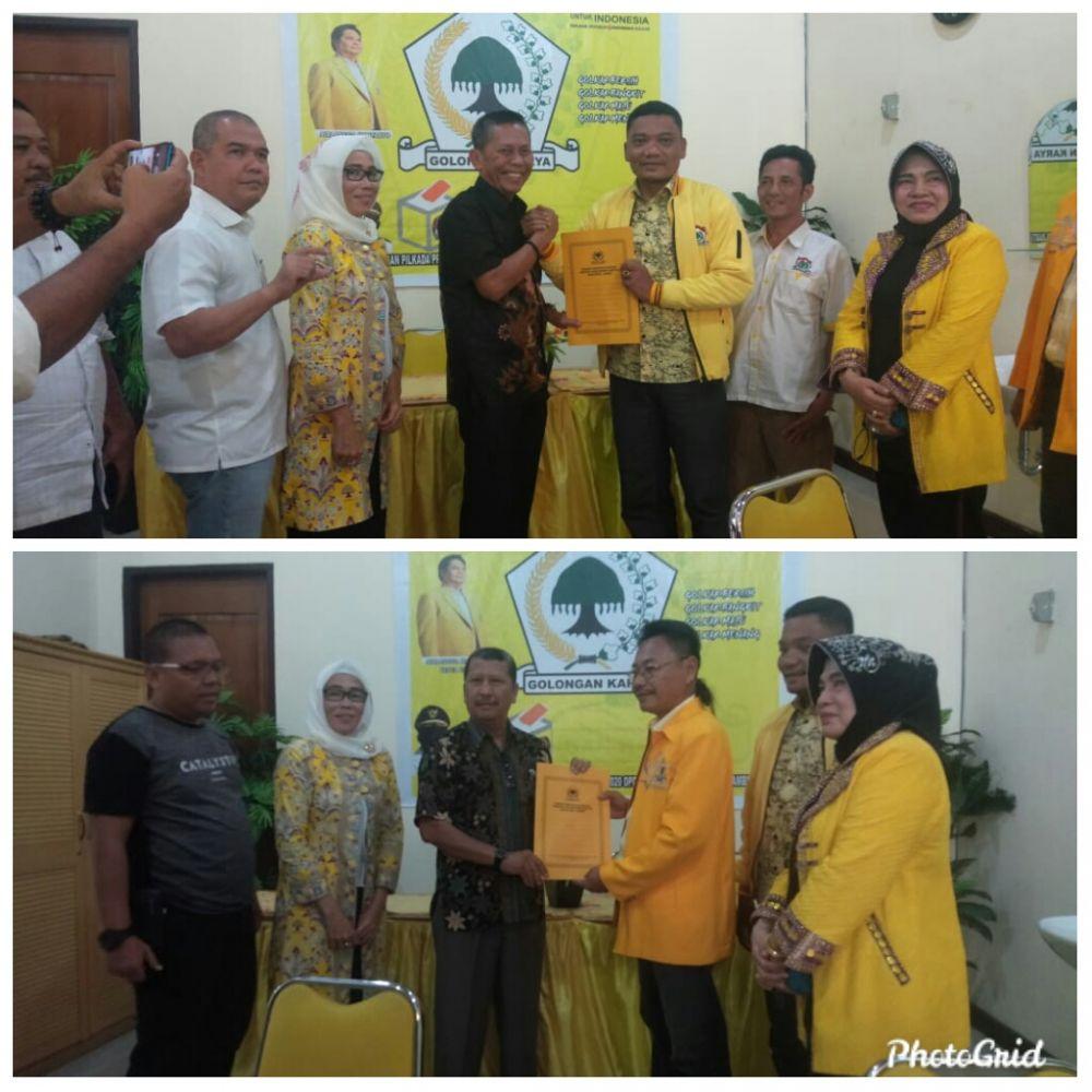 Tim CE dan Sukandar menyerahkan formulir pendaftaran