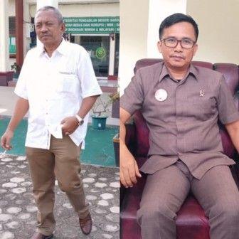 HM Syaihu dan juru bicara PN Sarolangun, Affan SH.