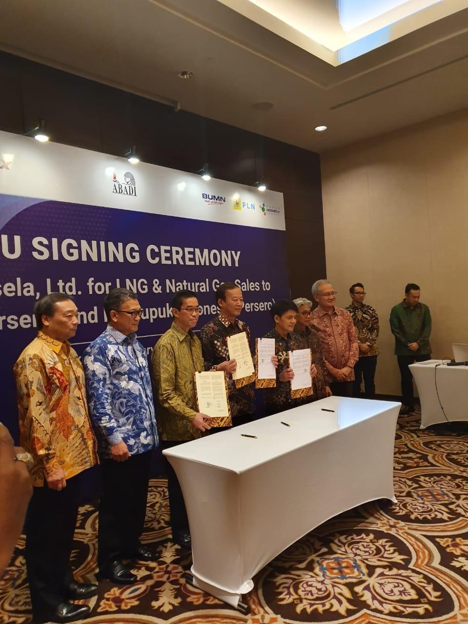Kali INPEX selaku Kontraktor Kontra Kerja Sama (KKKS) menandatangani Nota Kesepahaman, Rabu, 19 Februari dengan PT PLN dan PT Pupuk Indonesia