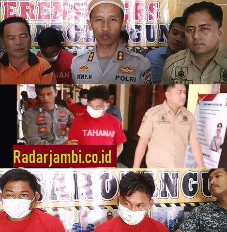 Kapolres Sarolangun, AKBP Deny Heryanto SIK diamini Kasat Reskrim, IPTU Bagus Faria SIK ketika diwawancarai