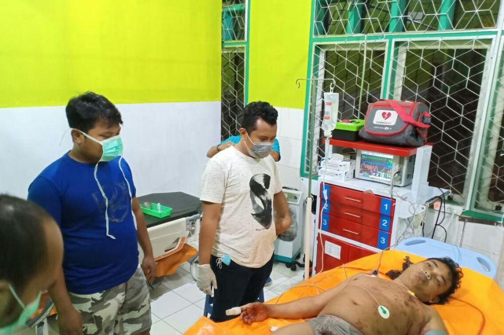 Pelaku perampokan terhadap gerai minimarket Alfamart di Rimbo Bujang sedang dirawat di RSUD STS Tebo setelah baku tembak dengan Tim Sultan Polres Tebo