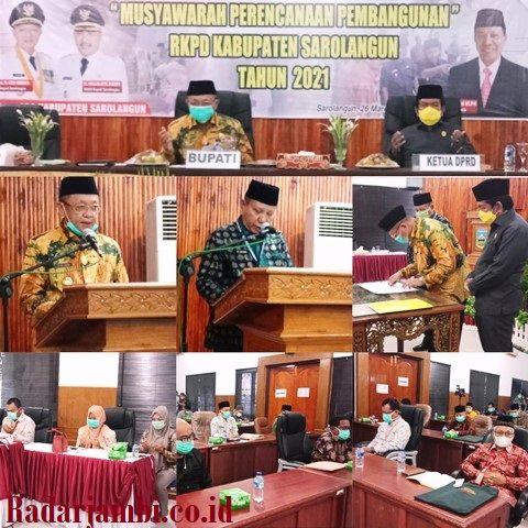 Musrenbang RKPD Kabupaten Sarolangun Tahun 2021 berlangsung khidmat