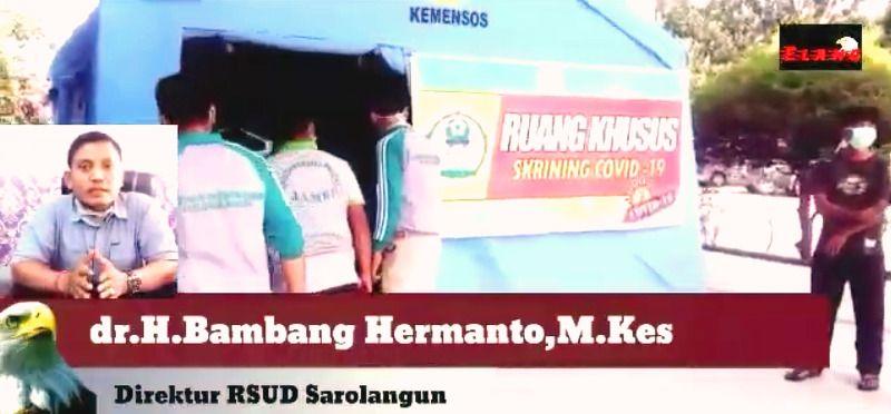 dr H Bambang Hermanto MKes, Direktur RSUD Prof DR H M CHatib Quzwain Sarolangun.