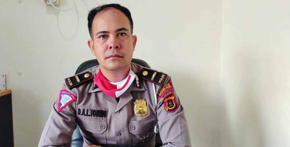 Kanit Laka Satlantas Polres Batanghari, IPDA Deny Andreas I Tobing.