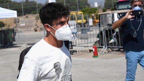 Marquez saat tiba di Jerez, Kamis (23/7/2020). Foto: Getty Images/Mirco Lazzari gp
