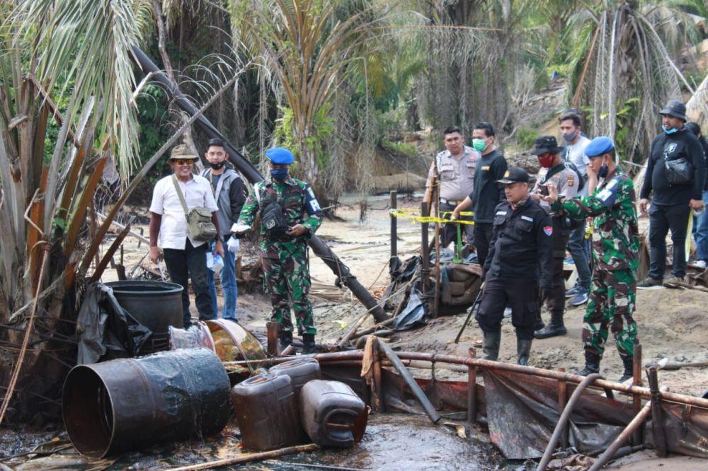 Penutupan sumut minyak ilegal di Batanghari