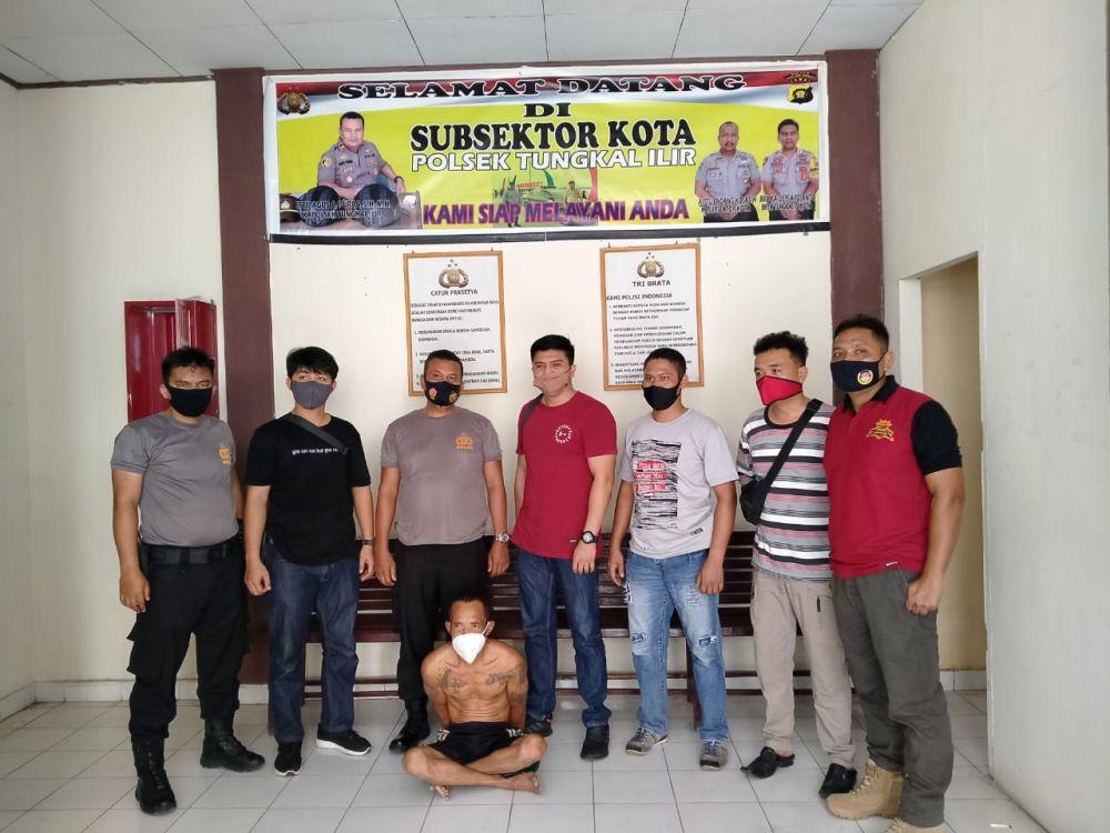 Pelaku Curanmor Inhu yang ditangkap polisi