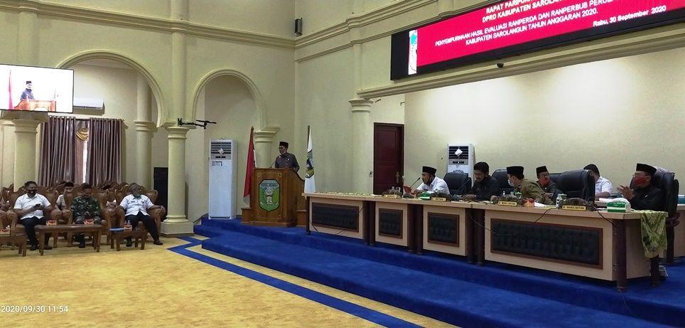 Jalannya rapat paripurna DPRD Sarolangun