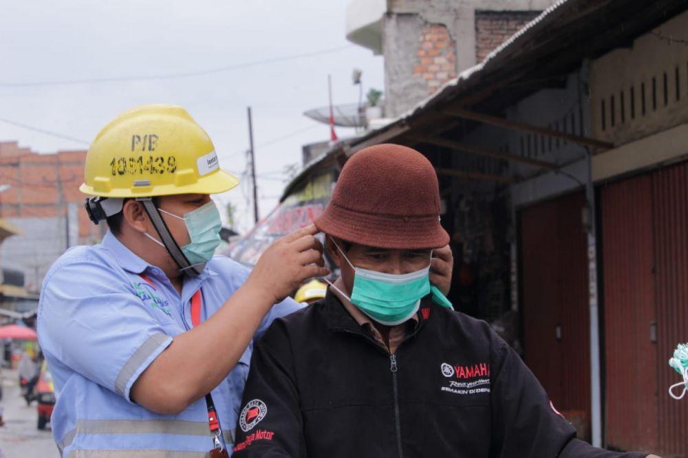 PT LPPPI Bagikan Masker Gratis Kepada Masyarakat