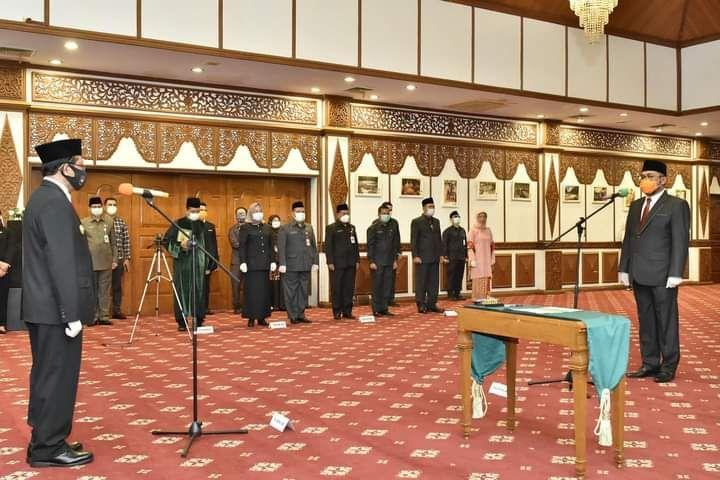 PJs Gubernur Jambi Restuardy Daud Melantik Sudirman sebagai Sekretaris Daerah Provinsi Jambi definitif