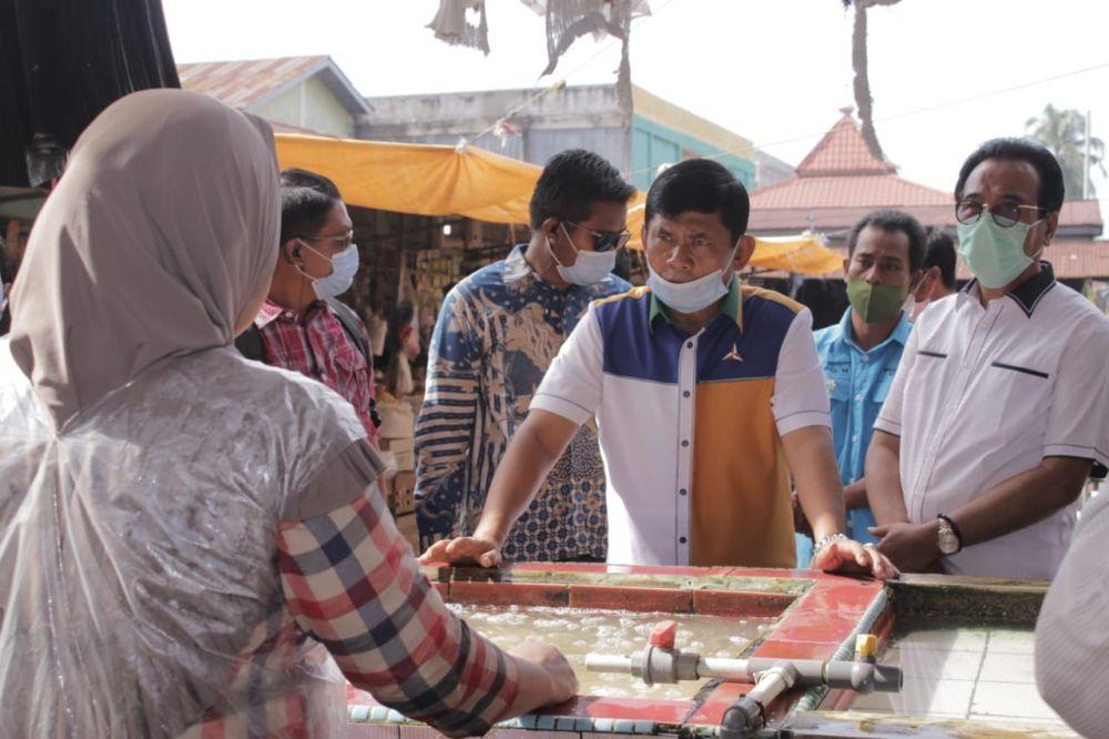Safril Nursal di pasar Tembesi
