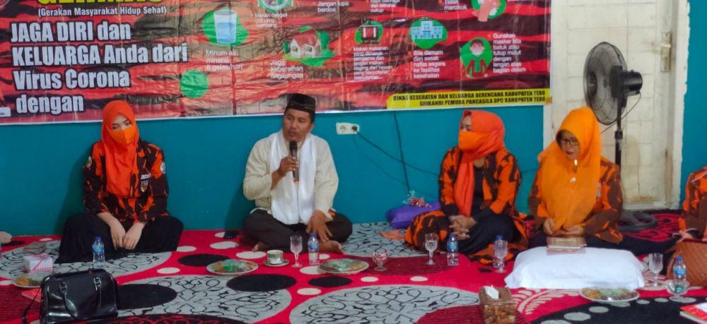 Kegiatan solawat dan ceramah agama yang digelar Srikandi PP Tebo
