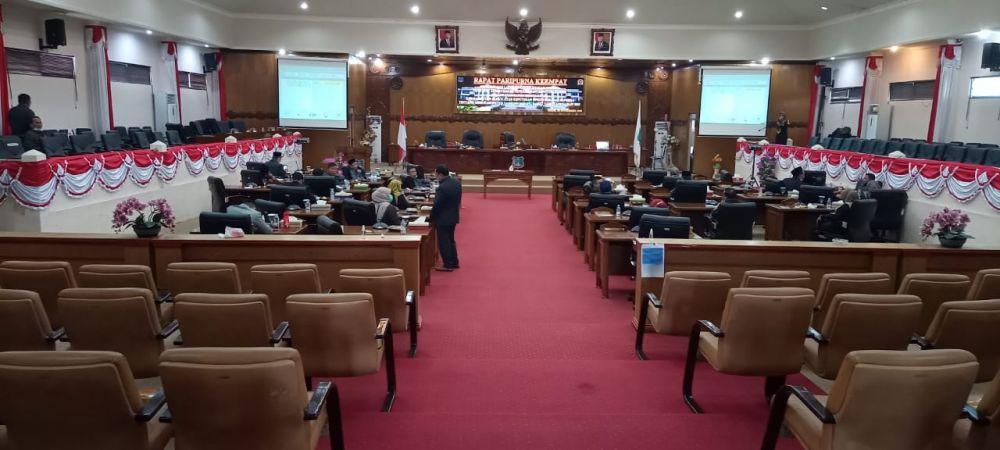 Ruang rapat paripurna DPRD Tanjabar