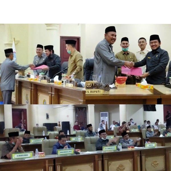 DPRD Kabupaten Sarolangun melaksanakan paripurna pemungkas diakhir tahun 2020.