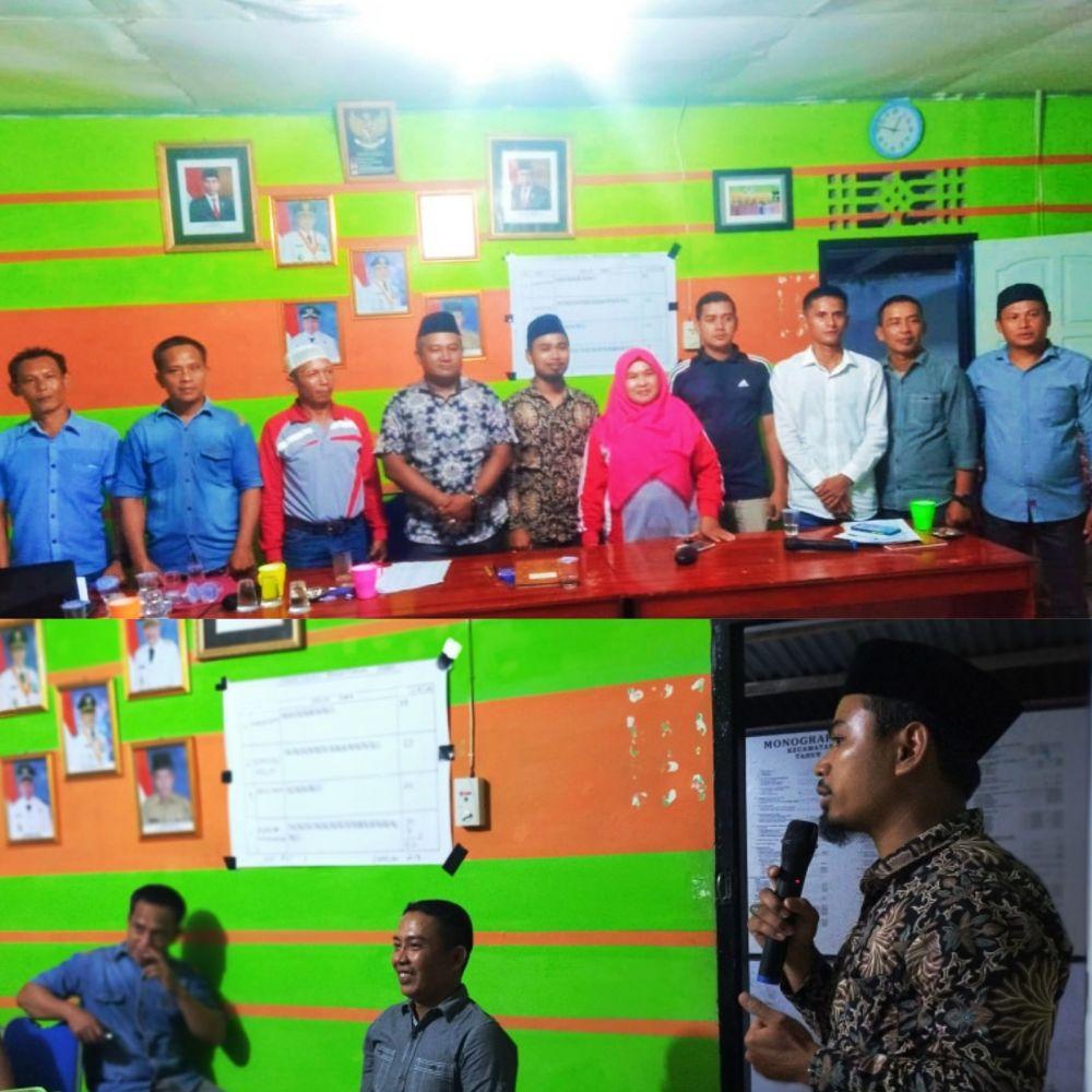 PJ Kades Sungai Abang dan Ketua BPD bersama Ketua Karang Taruna Terpilih