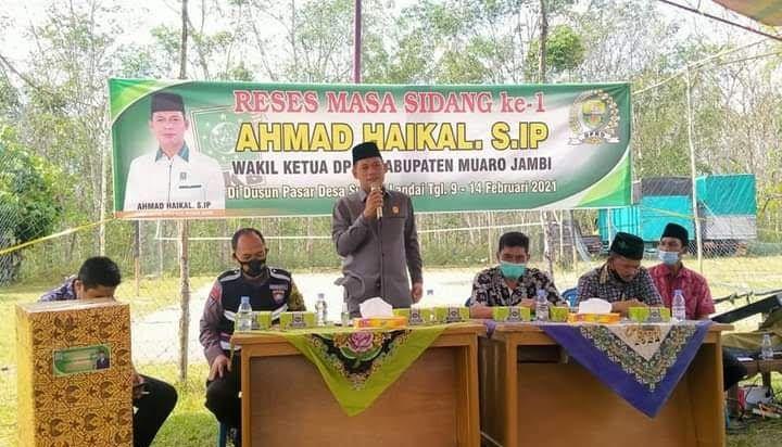 Ahmad Haikal melakukan reses