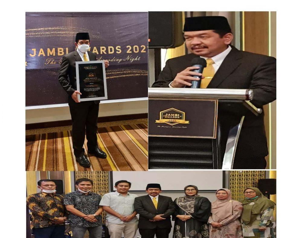 Tontawi Jauhari SE Raih Penghargaan  Jambi Awards 2021