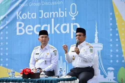 Wali Kota Jambi Fasha dan Wakil Wali Kota Jambi Maulana