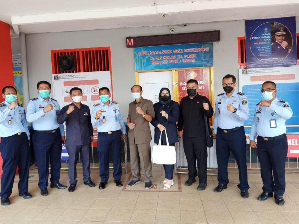 Komisi I DPRD Provinsi Jambi saat mengunjungi ke Lapas Kelas II A Jambi